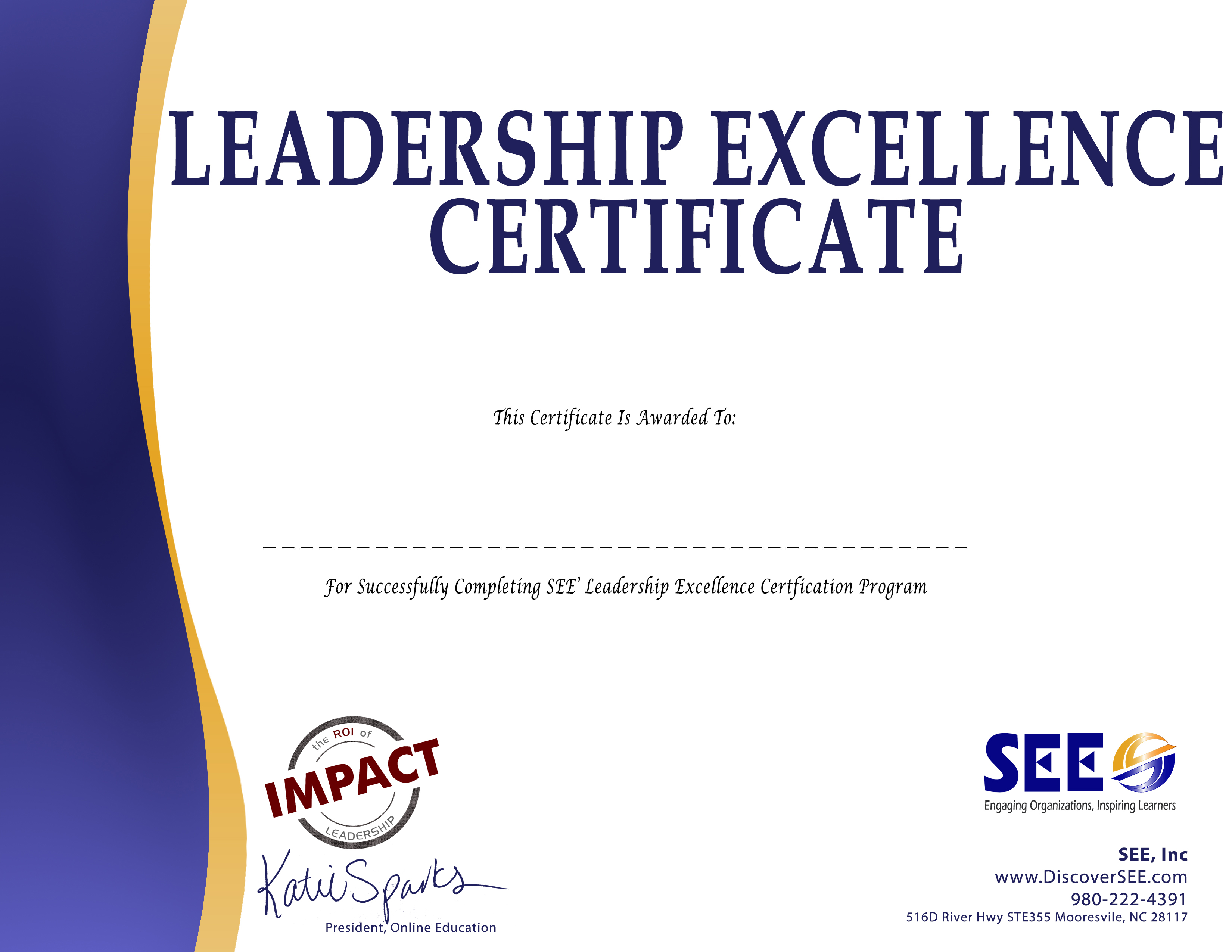 Leadership Course - Leadership Excellence Certificate