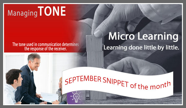 managing tone micro learning online training. Quick, affordable, free, 10 minutes, mobile, short training.