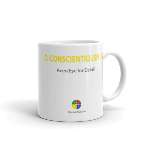 C Conscientionusness DiSC Mug perfect holiday co-worker gift