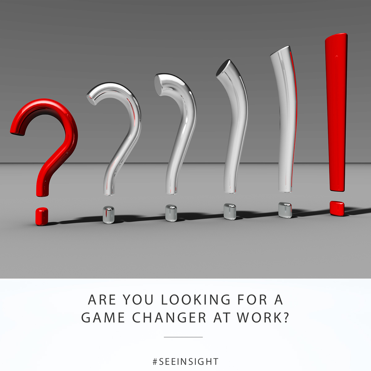 Are you looking for a game changer at work?