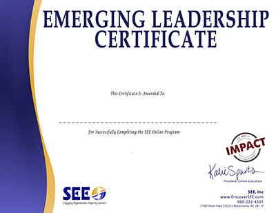 Emerging Leadership Online Certification Training